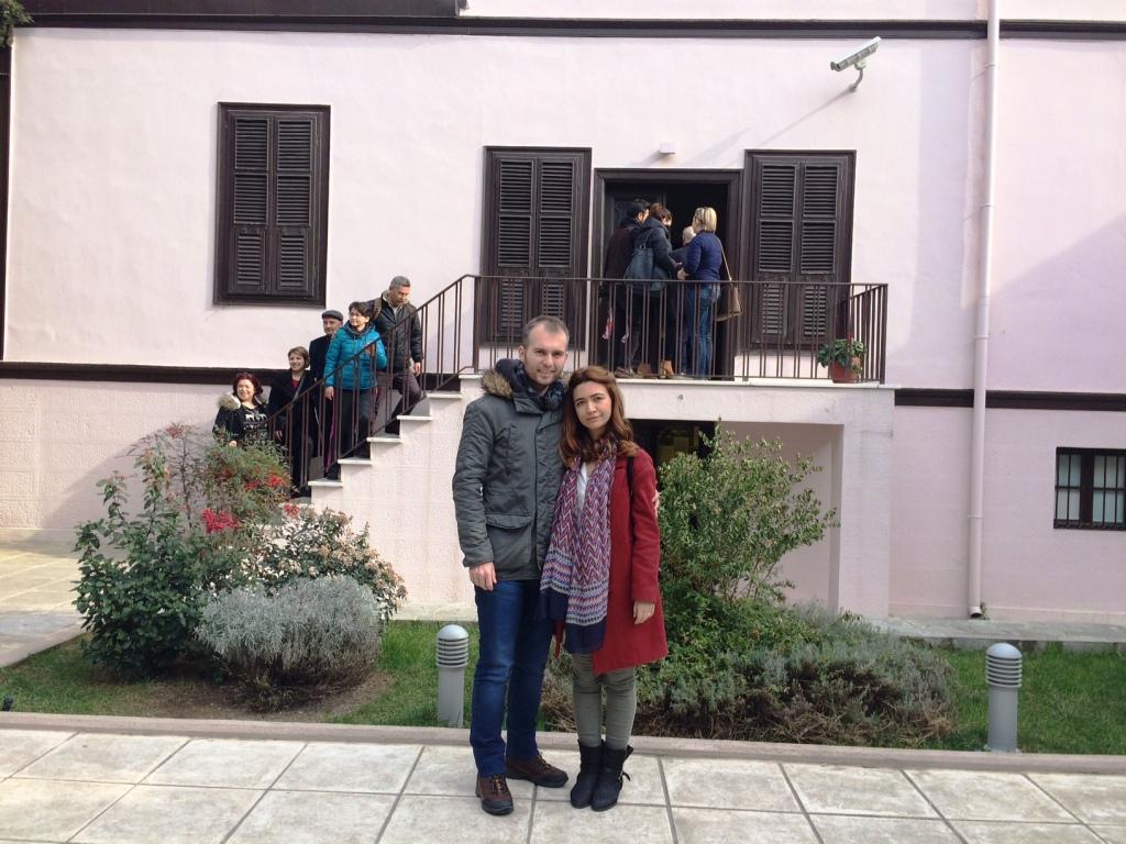 Atatürk'ün evinin bahçesi