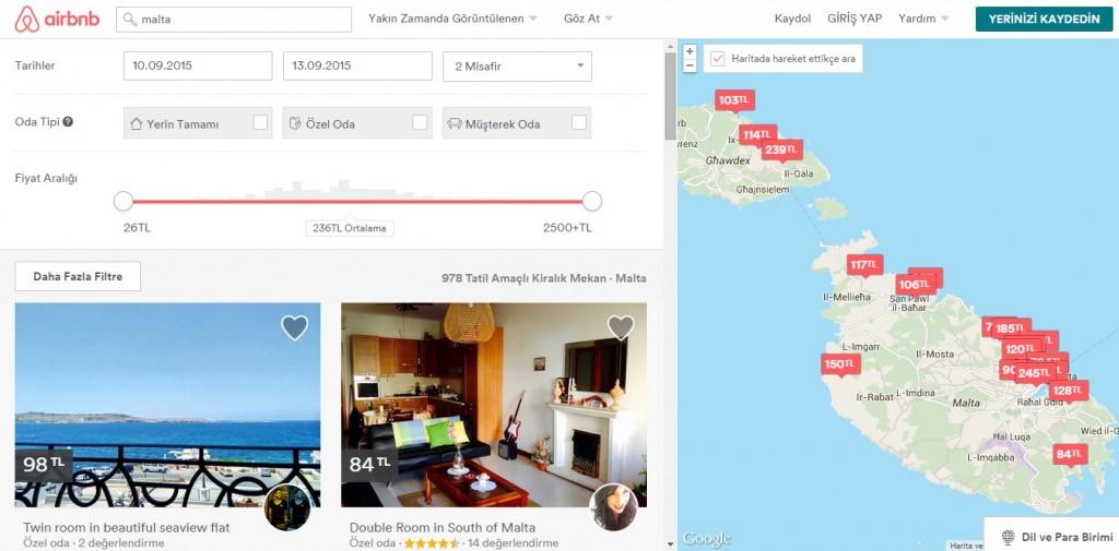 Görsel airbnb web sitesinden alınmıştır.