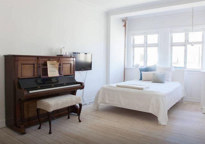 Airbnb'de bulup Kopenhag şehrinde konakladığımız ev