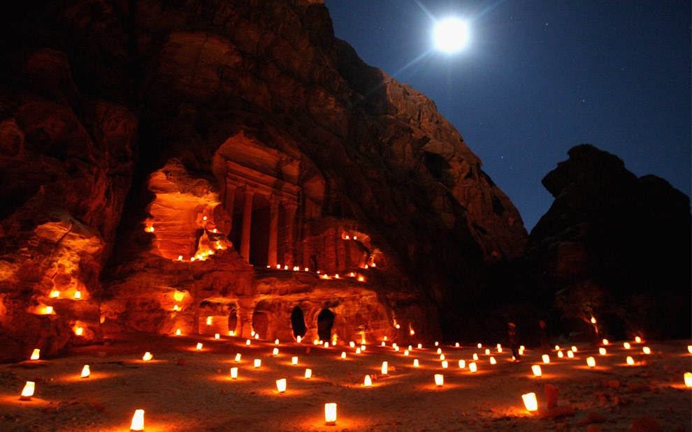 s-petra by moonlight